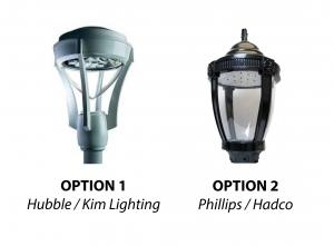 Pedestrian Lighting Options