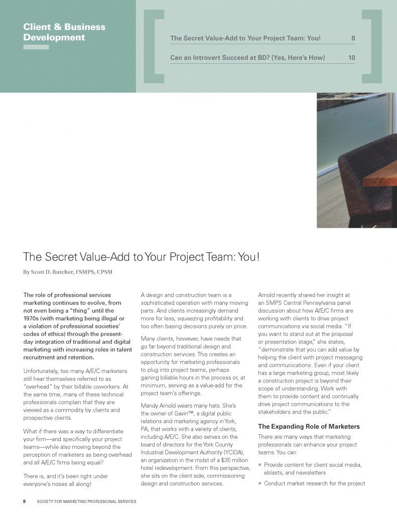 The Secret Value-Add to Your Project Team: You